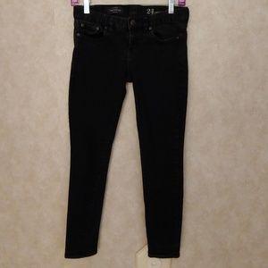 J. Crew Toothpick Jeans 00